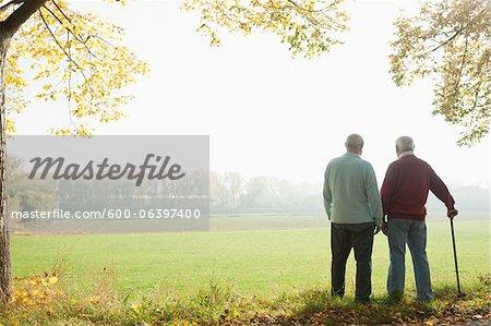 Men on Walk, Lampertheim, Hesse, Germany