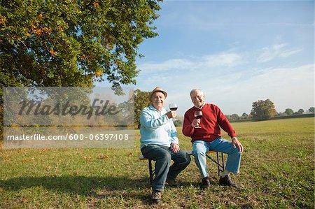 Men Drinking Wine, Lampertheim, Hesse, Germany