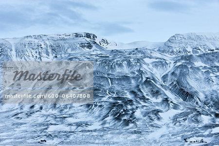 Mountain view in Hunafjordur bay at winter, Hunavatnshreppur, Iceland