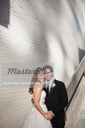 Portrait of Bride and Groom, Toronto, Ontario, Canada