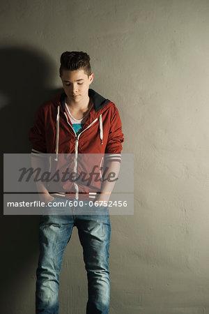 Portrait of Teenager, Studio Shot