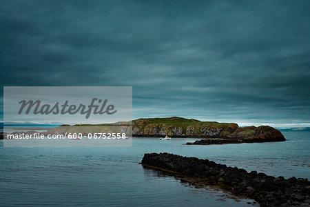 Fishing Boats in Harbor, Flatey Island, Breidafjodur, Northwest Iceland, Iceland