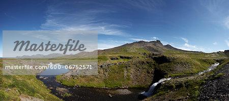 Reservoir for Hydro Power Plant, Snaefellsnes Peninsula, Vesturland, Iceland