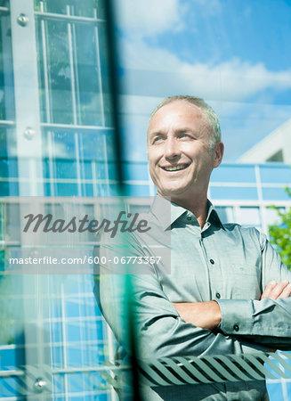 Portrait of Businessman Outdoors, Mannheim, Baden-Wurttemberg, Germany