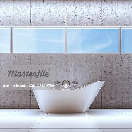 3D-Illustration of Bathtub