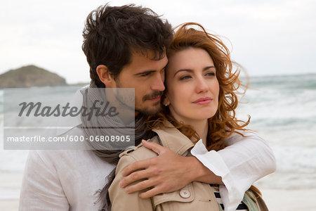Portrait of Couple at Beach, Sardinia, Italy
