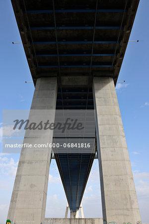Vasco da Gama Bridge spans the Tagus River, Lisbon, Portugal