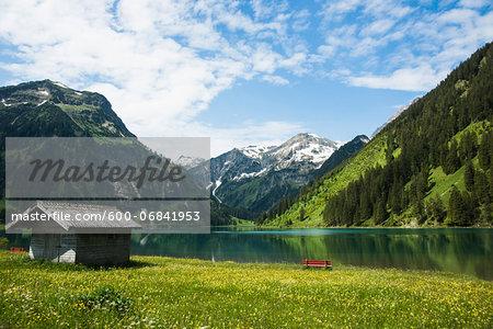 Scenic view of Lake Vilsalpsee, Tannheim Valley, Austria