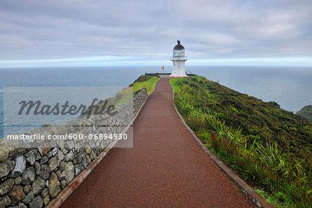 Cape Reinga Lighthouse at Dawn, Cape Reinga, Northland, North Island, New Zealand