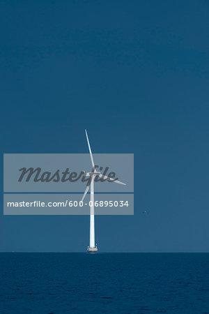 Wind Turbine and Sea, Copenhagen, Denmark