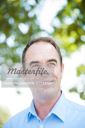Portrait of Mature Businessman Outdoors, Mannheim, Baden-Wurttemberg, Germany