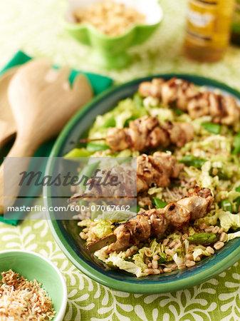 Chicken Satay Salad, Studio Shot