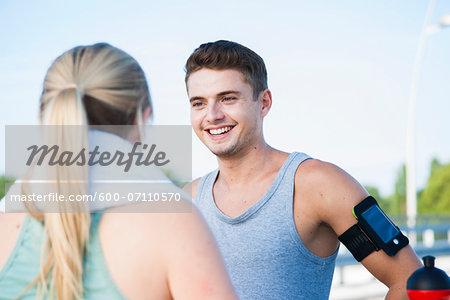 Young Couple Exercising, Worms, Rhineland-Palatinate, Germany