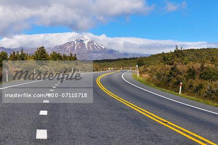 State Highway Road, Mount Tongariro, Tongariro National Park, Waikato, North Island, New Zealand