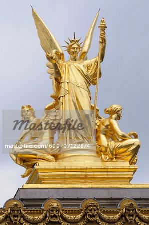 La Poesie Statue, Opera Garnier, 9th Arrondissement, Paris, France