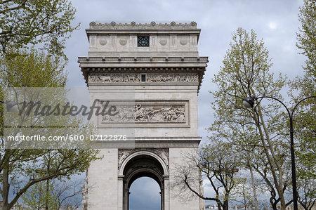 Arc De Triomphe, 8th Arrondissement, Paris, France