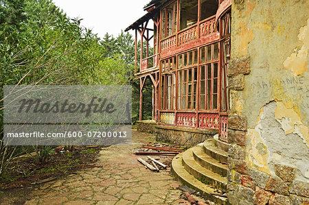 Ruined villa of Benito Mussolini at Profitis Ilias, Rhodes, Dodecanese, Aegean Sea, Greece, Europe