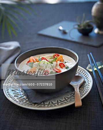 Thai Coconut Chicken Soup, Studio Shot