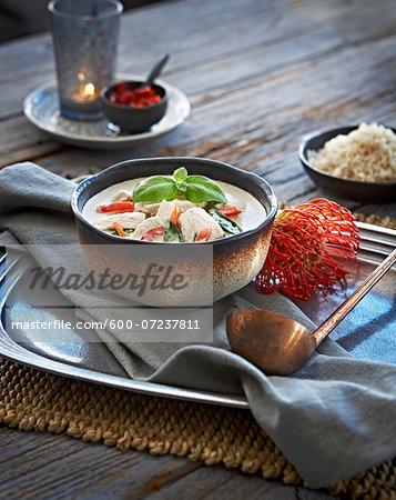 Thai Green Curry Chicken, Studio Shot