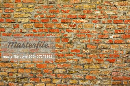 Brick Wall, Augsburg, Swabia, Bavaria, Germany