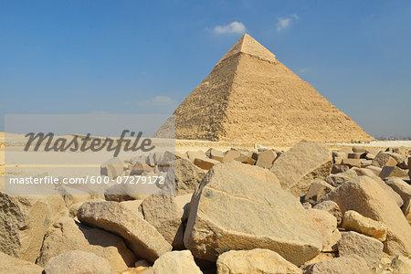 Pyramid of Khafre at Pyramids of Giza, Giza, Cairo, Egypt, Africa
