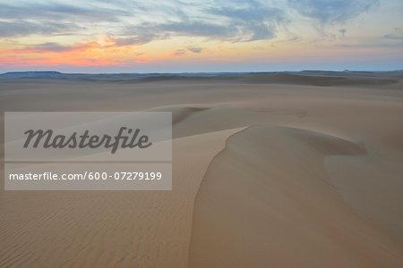 Sand Dune at Dawn, Matruh Governorate, Libyan Desert, Sahara Desert, Egypt, Africa