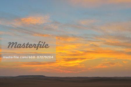 Desert Landscape at Dawn, Matruh Governorate, Libyan Desert, Sahara Desert, Egypt, Africa