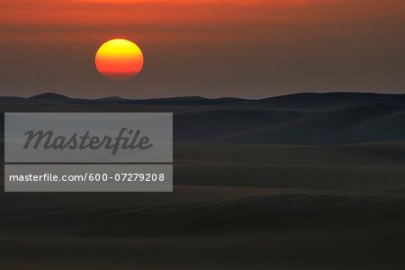 Desert Landscape at Sunrise, Matruh Governorate, Libyan Desert, Sahara Desert, Egypt, Africa