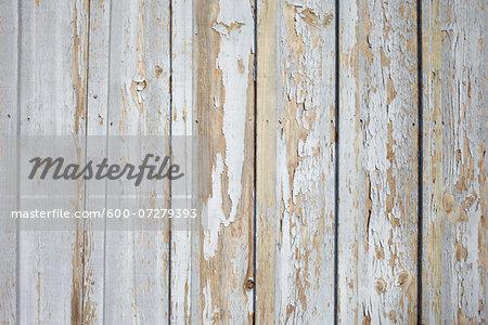 Peeling Paint on Wooden Wall, Arcachon, France