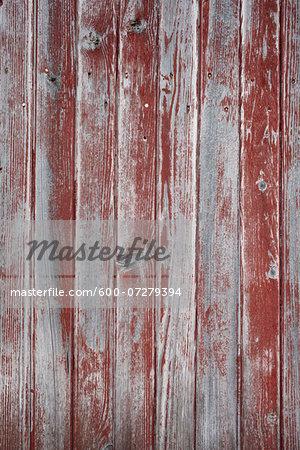 Peeling Red Paint on Wooden Wall, Saint-Jean-de-Luz, France