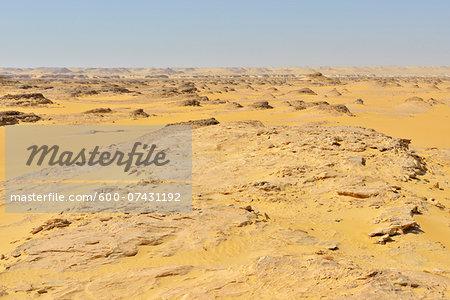 Scenic view of Desert Landscape, Matruh, Libyan Desert, Sahara Desert, Egypt, North Africa, Africa