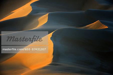 Windswept Sand Dunes at Sunset, Matruh, Great Sand Sea, Libyan Desert, Sahara Desert, Egypt, North Africa, Africa