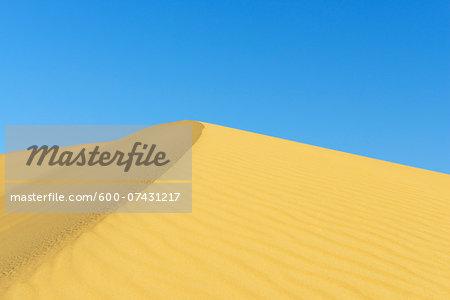 Top of Sand Dune against Blue Sky, Matruh, Great Sand Sea, Libyan Desert, Sahara Desert, Egypt, North Africa, Africa
