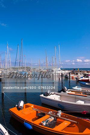 Boats in Harbour, Aeroskobing, Aero Island, Jutland Peninsula, Region Syddanmark, Denmark, Europe