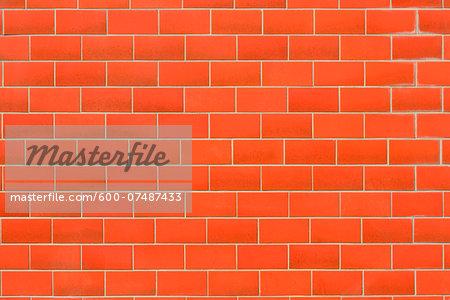 Close-up of brick wall, Hesse, Germany, Europe