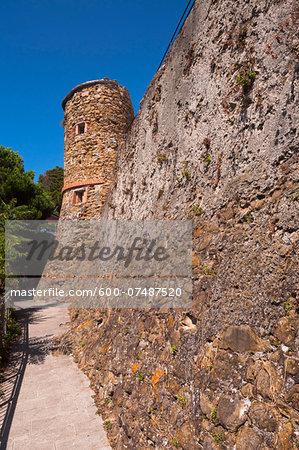 Stone Building, Riomaggiore, Cinque Terre, La Spezia District, Italian Riviera, Liguria, Italy
