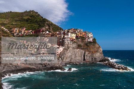 Manarola, Cinque Terre, La Spezia District, Italian Riviera, Liguria, Italy
