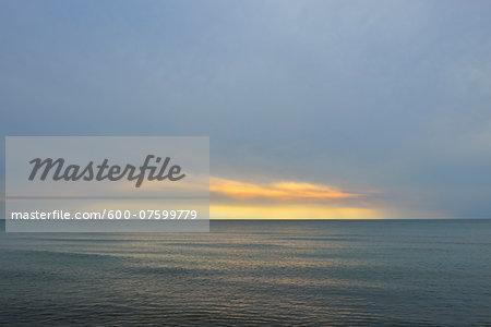 Baltic Sea at Dusk, Darss West Beach, Darss, Fischland-Darss-Zingst, Western Pomerania, Germany