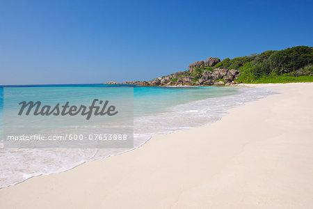 Indian Ocean at Grand Anse Beach, La Digue, Seychelles