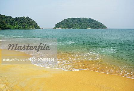 Nipah Bay and Pulau Mentangor from Pulau Pangkor, Perak, Malaysia