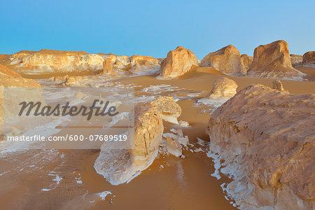 Rock Formations in White Desert, Libyan Desert, Sahara Desert, New Valley Governorate, Egypt