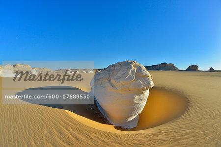 Rock Formation in White Desert, Libyan Desert, Sahara Desert, New Valley Governorate, Egypt
