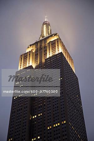 Empire State Building Illuminated at Dusk, New York City, New York, USA