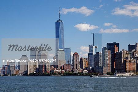 New York City Skyline with One World Trade Center, New York, USA