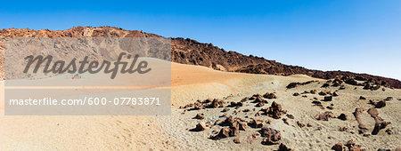 Lava rocks and pumice field at the Minas de San Jose, UNESCO World Heritage Site, Teide National Park, Tenerife, Canary Islands