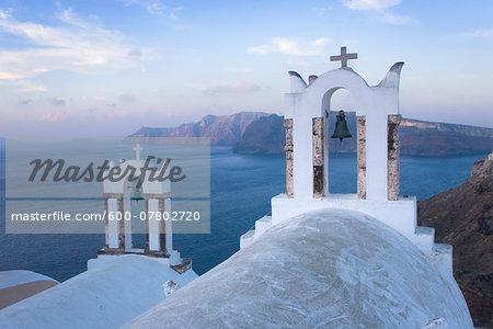 Bell Towers, Oia, Santorini, Greece