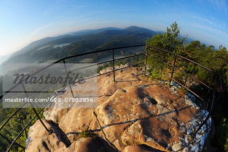 Observation Point on Mountain, Hochstein, Dahn, Dahner Felsenland, Pfalzerwald, Rhineland-Palatinate, Germany