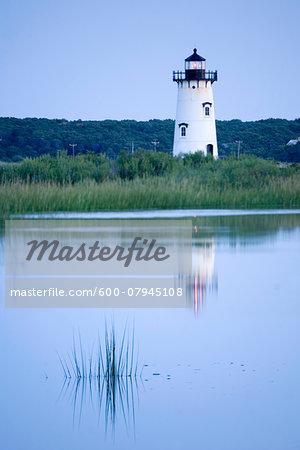 The Edgartown Lighthouse in Edgartown, on the island of Martha's Vineyard, Massachusetts, USA