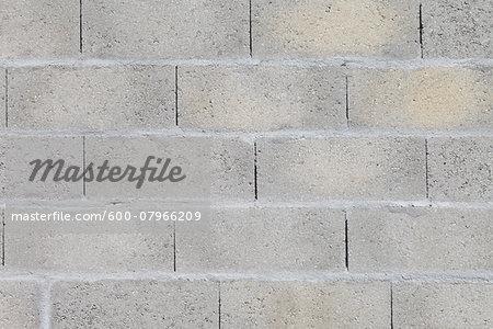 Close-up of Grey Brick Wall, Royan, Charente-Maritime, France
