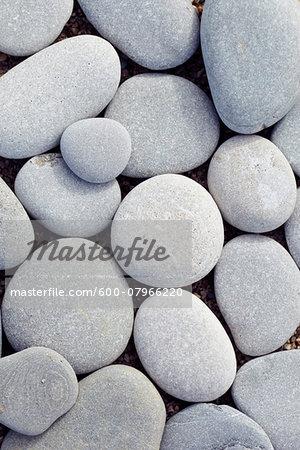 Close-up of Smooth Round Stones, Biarritz, Aquitaine, France
